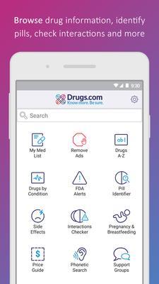 Drugs.com Screenshots