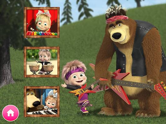 Masha and the Bear. Educational Games Screenshots