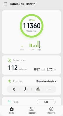 Samsung Health Screenshots