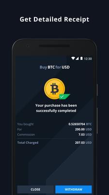 CEX.IO Bitcoin Exchange Screenshots